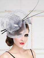 Vlas Vrouwen Helm Speciale gelegenheden/Outdoor Fascinators/Hoeden Speciale gelegenheden/Outdoor 1 Stuk