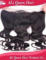 productos pelo de la reina ali cierre frontal del cordón de la onda del cuerpo brasileño con 13x4 pelo del bebé onda del cuerpo virginal