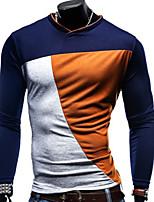 T-shirt Uomo Casual Manica lunga Cotone