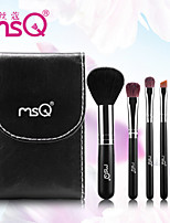 MSQ® 5pcs Makeup Brushes set Goat/Wool hair Travel Rayon Black Powder Brush Foundation brush Shadow/Lip/Brow Brush Makeup Kit Cosmetic Brushes