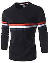 Men's Long Sleeve T-Shirt , Cotton Casual/Formal Pure