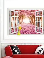 3d stickers muraux murales cerisier PVC Stickers muraux de style autocollants