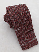 Men's Classic Brown Red Knitted Tie 2015 New Design
