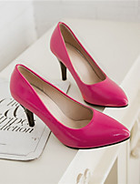 Women's Shoes Faux Leather Stiletto Heel Heels Pumps/Heels Office & Career/Casual Black/Red/White/Burgundy
