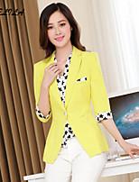 Women's Casual Thin Half Sleeve Patchwork Blazer