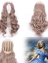 New Cosplay Long Curly Gray Wig Cinderella