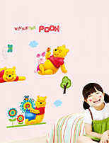 Wall Stickers Wall Decals Style Cartoon Pooh Park PVC Wall Stickers