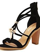 Women's Shoes Chunky Heel Open Toe Sandals Casual Black