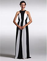 Homecoming Formal Evening Dress Sheath/Column Jewel Floor-length Chiffon