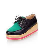 Women's Shoes Faux  Platform Round Toe/Closed Toe Pumps/Heels