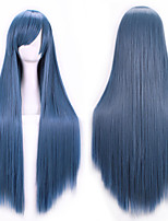 New Anime Cosplay Long Straight Hair Wig 80CM