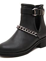 Women's Shoes  Low Heel Bootie Boots Outdoor/Casual Black/Brown