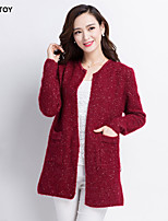 SEXY TOY® Women's Casual Long Sleeve Cardigan , Knitwear/Others Thick