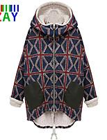 ZAY Women's Winter New Fleece Lining Long Sleeve Warm Long Parka