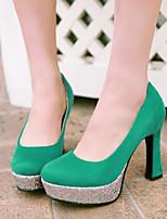 Women's Shoes Stiletto Heel Heels/Round Toe Pumps/Heels Office & Career/Dress Black/Blue/Green/Red