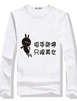 T-shirt Uomo Casual/Da ufficio/Attività sportive Con stampe Manica lunga Misto cotone