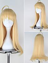 Warship Girls Hood Golden Yellow Color Long Straight Girl's Game Anime Cosplay Wig