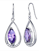 Flammable Volcano 925 Silver Purple Artificial Crystal Pendant Ms Bohemia Eardrop Long Han Edition SYE0072A Fashion