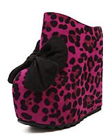 Women's Shoes Cashmere Flat Heel Heels Slippers Outdoor Brown/Red