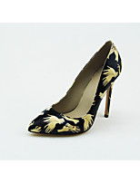 Women's Shoes Leatherette Stiletto Heel Heels/Pointed Toe/Closed Toe Pumps/Heels Dress/Casual/Party & Evening Black