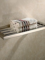 Bathroom Mirror Polished Stainless Steel Wall Mounted Square Towel Shelf