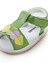 Baby Shoes Casual Fabric Sandals Green/Pink