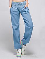 Women's Loose Casual Jeans Denim Elastic Pants Wide Jeans Elastic Leg Opening