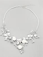 Collier Anniversaire/Mariage/Engagement/Cadeau/Sorée/Occasion spéciale Cristal/Imitation de perle/Strass Alliage/Imitation de perle Femme
