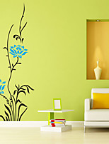 Wall Stickers Wall Decals Style Cartoon Flowers PVC Wall Stickers