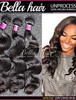 Erweiterungen de cheveux vierges, péruvien cheveux humains, cheveux ondulé lisse, noir naturel 3pcs / lot cheveux lisse