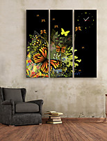 E-HOME® Butterfly Clock in Canvas 3pcs