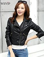 2015 Women's New Stlye Fashion Short Leather Jacket WP7E05