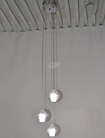 LED Crystal Glass Pendant Light Ceiling Chandeliers Lamps Lighting with 3 Bulbs Ac100 to 240 LED G4 Source CE UL