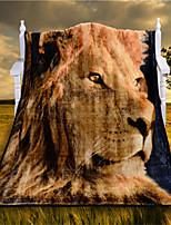 Couverture - 120cmx150cm - en 100% Polyester - Jaune