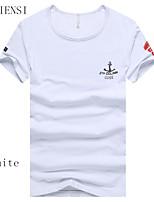 Herren Freizeit T-Shirt Kurz Baumwolle
