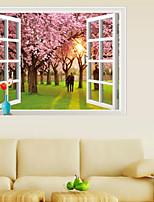 3d adesivi murali parete in stile decalcomanie adesivi murali romantico ciliegio pvc