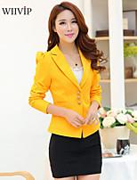Women's Casual/Work/Plus Sizes Medium Long Sleeve Regular Blazer (Cotton/Polyester)WP7D05