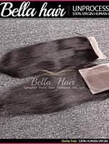 trame cheveux avec fermeture, mongoles cheveux, libre partie, droits cheveux, vierges no transformes 4x4