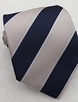 Men's Classic Navy Blue Pink Stiped Necktie