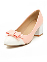 Women's Shoes Synthetic Chunky Heel Heels/Basic Pump Pumps/Heels Office & Career/Dress/Casual Green/Pink/White