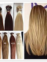 3pcs / lot 1 g / s 100g / pc des brasilianischen reinen gerade vorgebunden Keratinschmelzverfahrens-Haarverlängerung Haarverlängerung nano