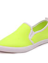 Calçados Femininos Courino Rasteiro Arrendondado/Bico Fechado Sapatos para Esportes Ar-Livre/Casual Amarelo/Vermelho/Branco