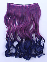 Top Fashion Heat Resistant Wavy Hairpiece Ombre Hair Synthetic Hair Extension Highlight Hair Clip in Hair Extensions