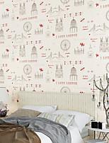 nouvelle rainbow ™ au papier peint contemporain art déco mur rouge et noir couvrant art mural non-tissé de tissu