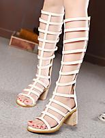 Women's Shoes  Chunky Heel Styles Sandals Casual Black/Beige