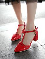 Scarpe Donna Finta pelle Kitten Tacchi/A punta Scarpe col tacco Ufficio e lavoro/Formale Nero/Rosso/Bianco