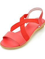 Women's Shoes Flat Heel Comfort / Round Toe Sandals Wedding / Outdoor / Office & Career / Dress Red / White / Beige
