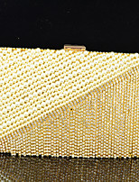 Handbag Satin/Crystal/ Rhinestone/Metal/Imitation Pearl Evening Handbags With Crystal/ Rhinestone/Imitation Pearl/Metal