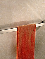 Bathroom Wall Mounted Mirror Polished Stainless Steel Square Single Towel Bar