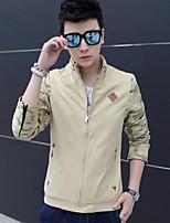 RUILIKE®Men's Casual Plus Sizes Print Long Sleeve Regular Jacket (Cotton/Polyester)